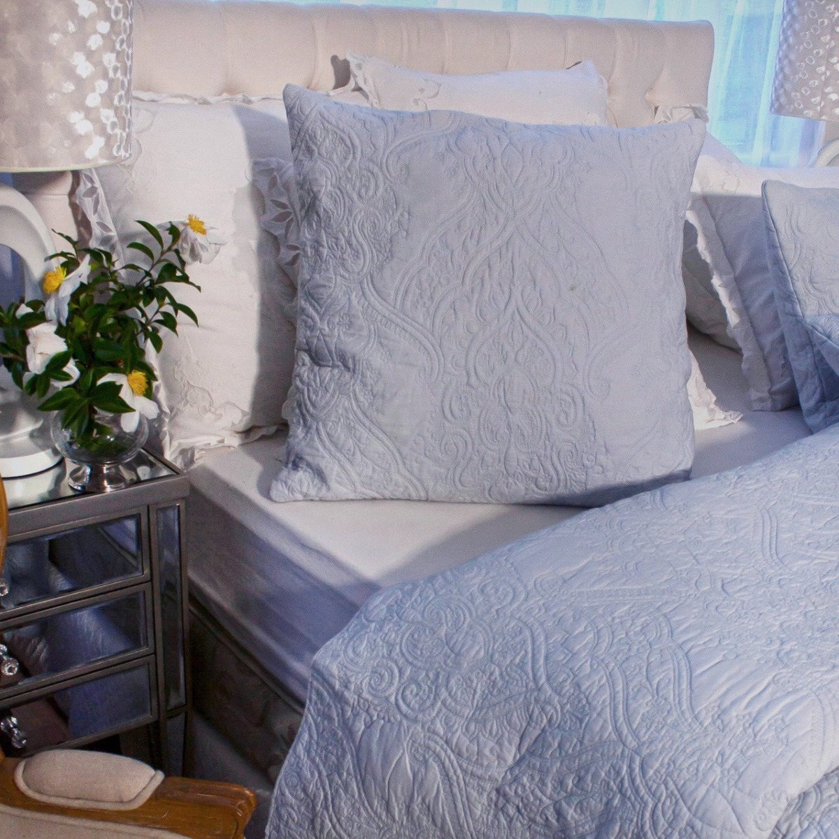 Angads-Dmask-100-Cotton-Quilted-Bedspread-Set-With-Two-Pillowcases-in-Blue